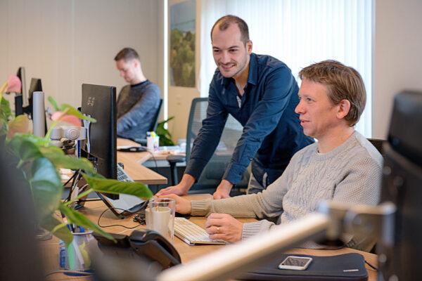 Samenwerken Caspar, Peter en Niels